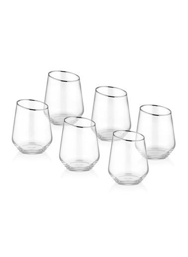 The Mia Gina Su Bardağı Kısa 6 Lı Set - Gümüş Gümüş